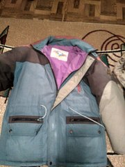 Куртка - пуховик мужская Венгрия,  б/у,  М,  натуральный пух.