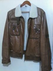 Куртка короткая,  кожа,  натуральных мех. Размер 48. Немного б/у
