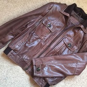Кожаная куртка Pretender